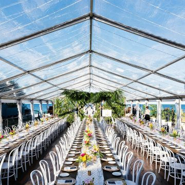 Clear Marquee, Beachfront Wedding, Gold Coast